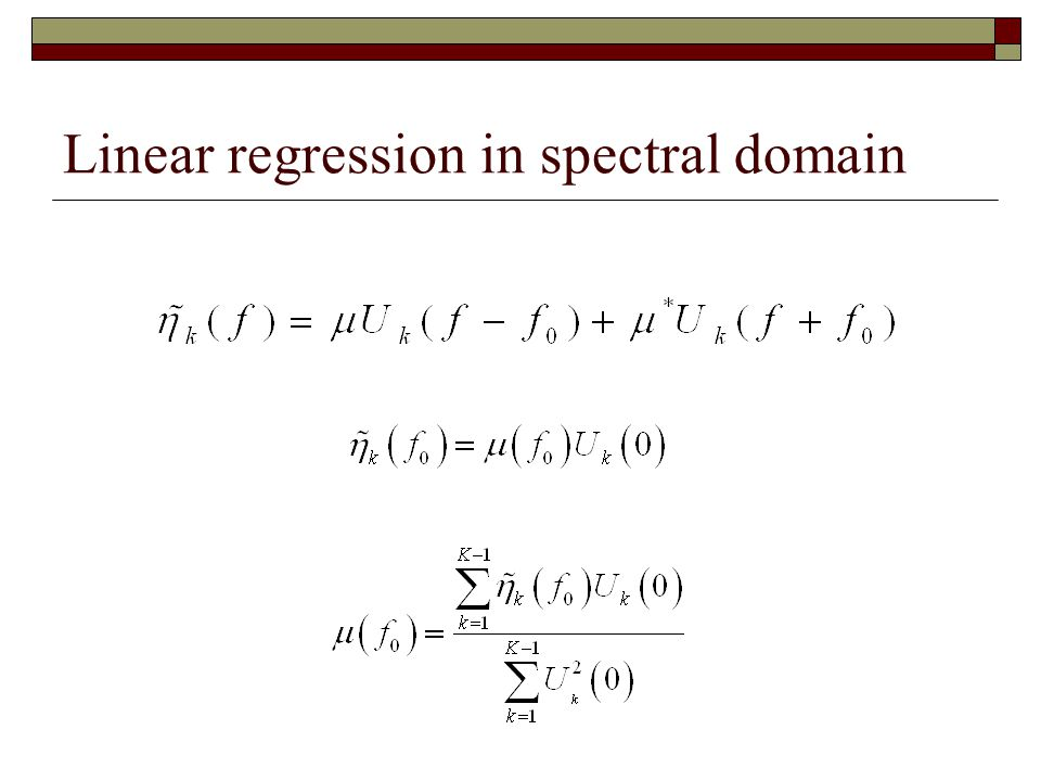 Linear regression in spectral domain