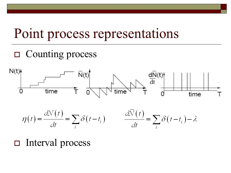 Point process representations