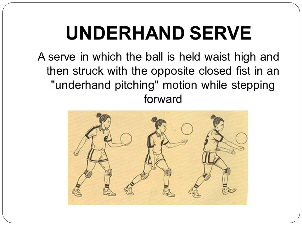 volleyball how to serve underhand