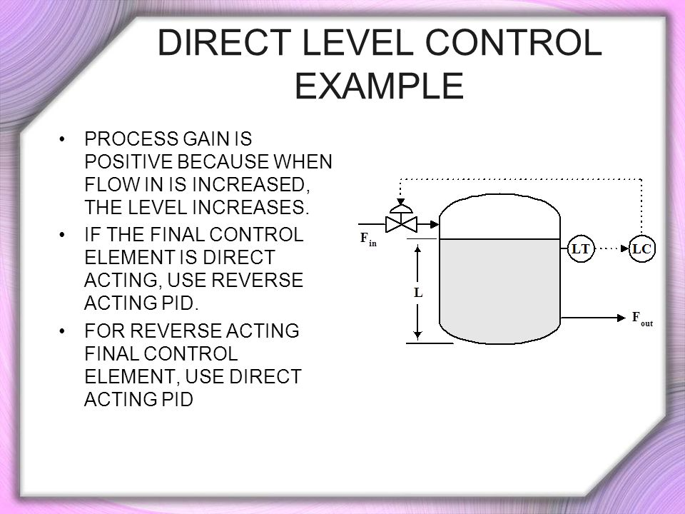 Direct Level Control Example