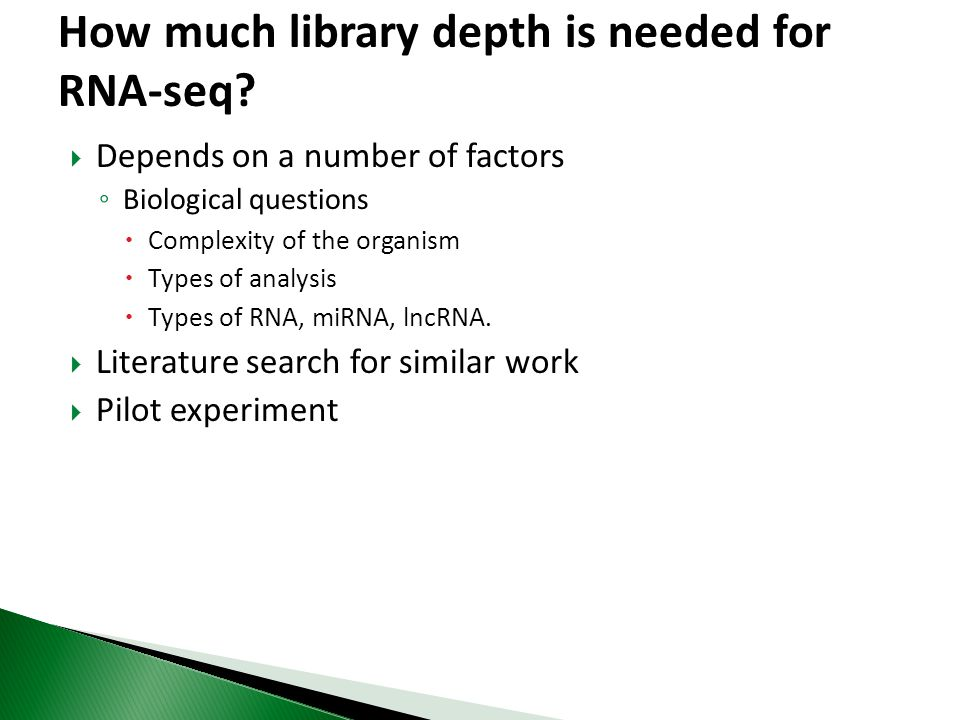 How much library depth is needed for RNA-seq