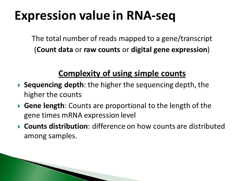 Expression value in RNA-seq