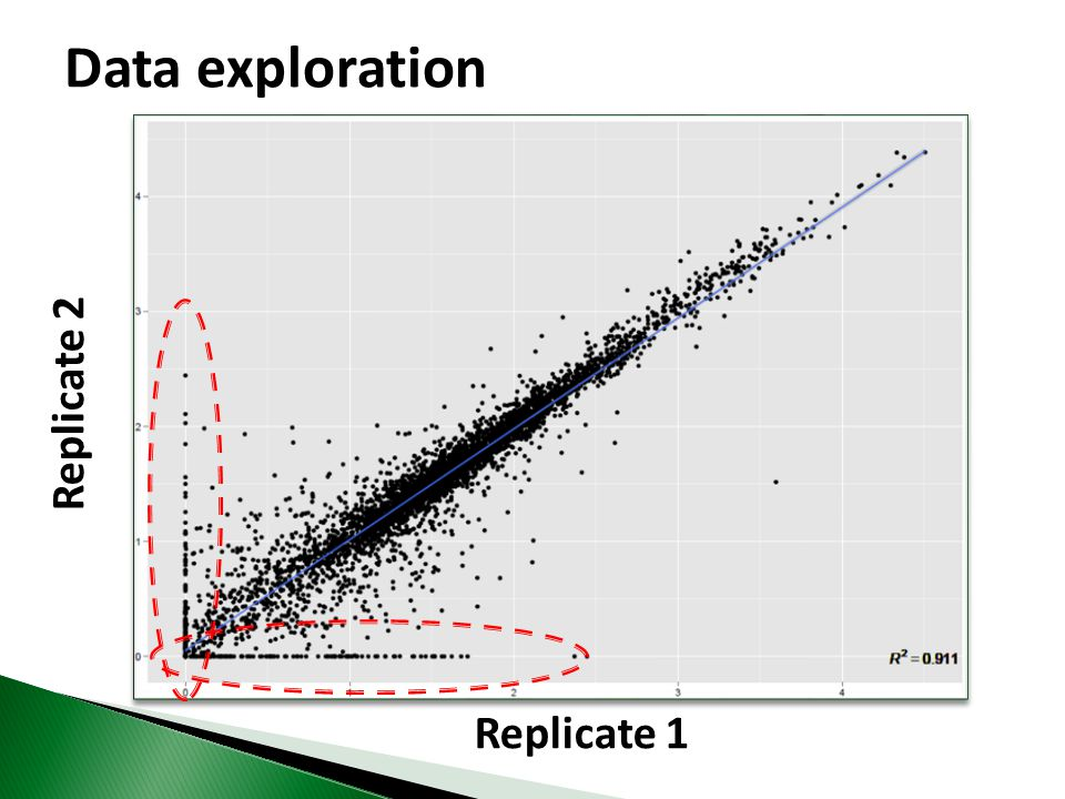 Data exploration Replicate 2 Replicate 1