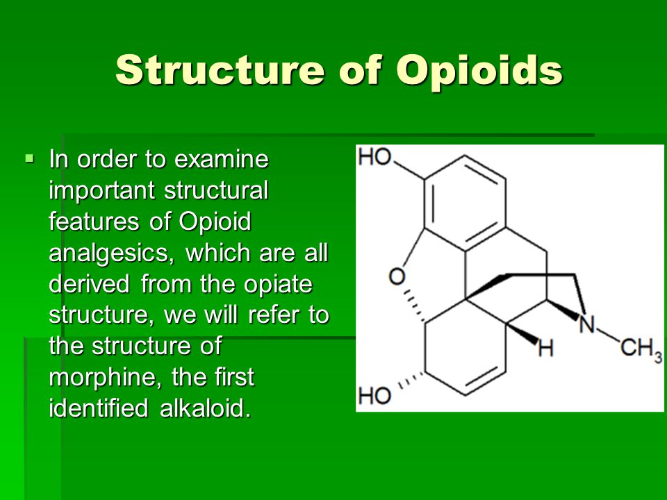 Structure of Opioids