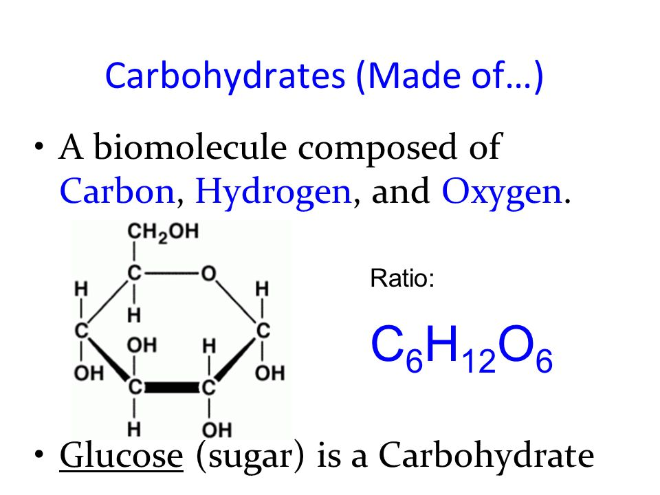 A look at sugars and carbohydrates