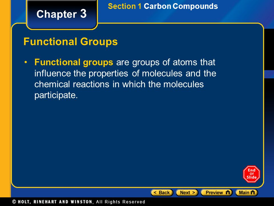 Chapter 3 Functional Groups