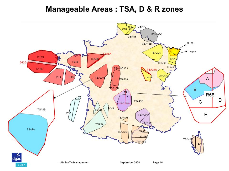 Manageable Areas : TSA, D & R zones