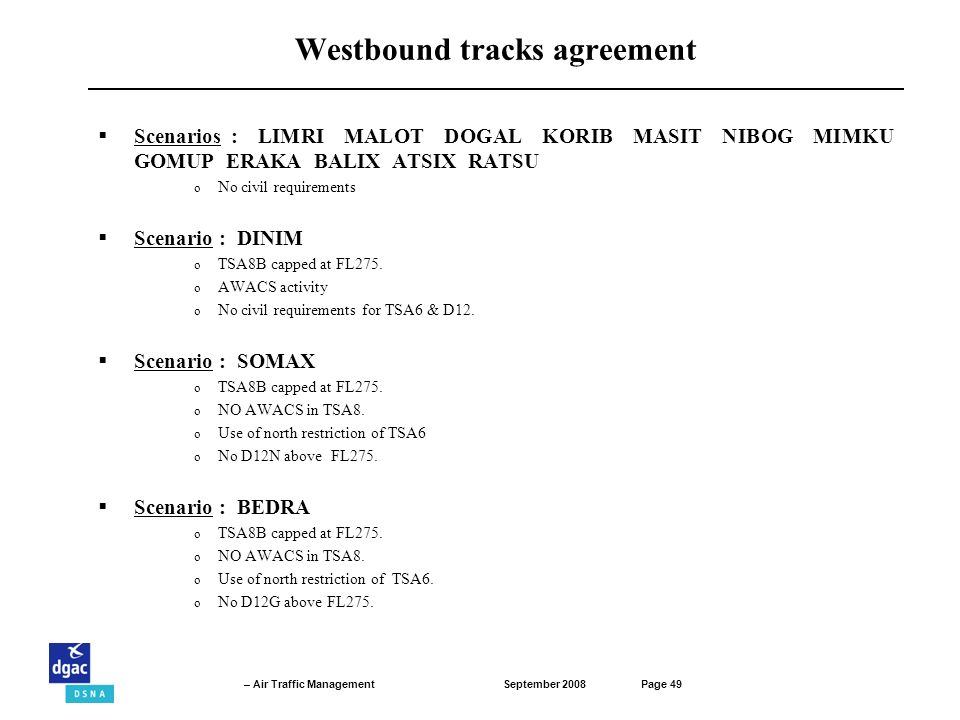 Westbound tracks agreement