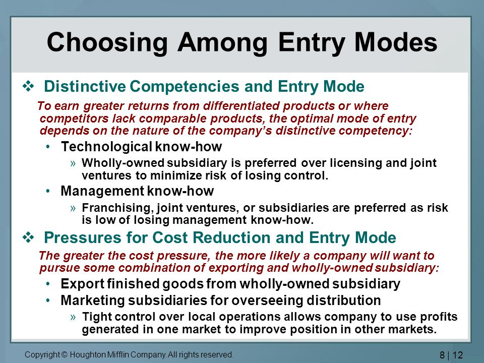 risk of entry by potential competitors Risk of entry by potential competitors in fast food industry 6 the common sense of principle that defines the generally observed relationship between demand, supply, and prices: as increases the price goes up, which attracts new suppliers who increase in supply bringing the price back tom normal.