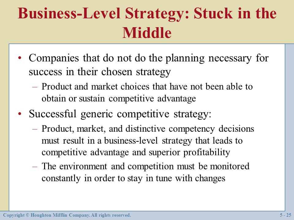 Business-Level Strategy: Stuck in the Middle