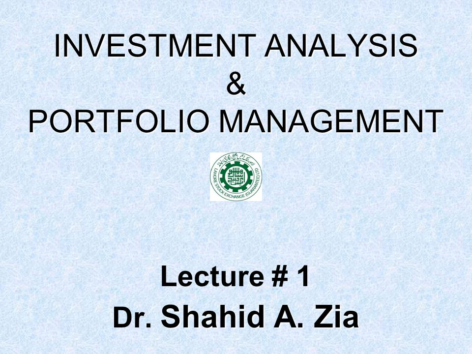 Investment Analysis  Portfolio Management  Ppt Download