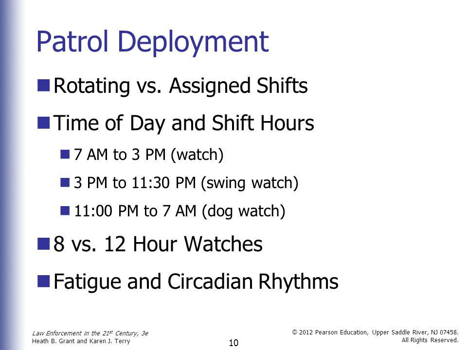 Patrol Deployment Rotating vs. Assigned Shifts