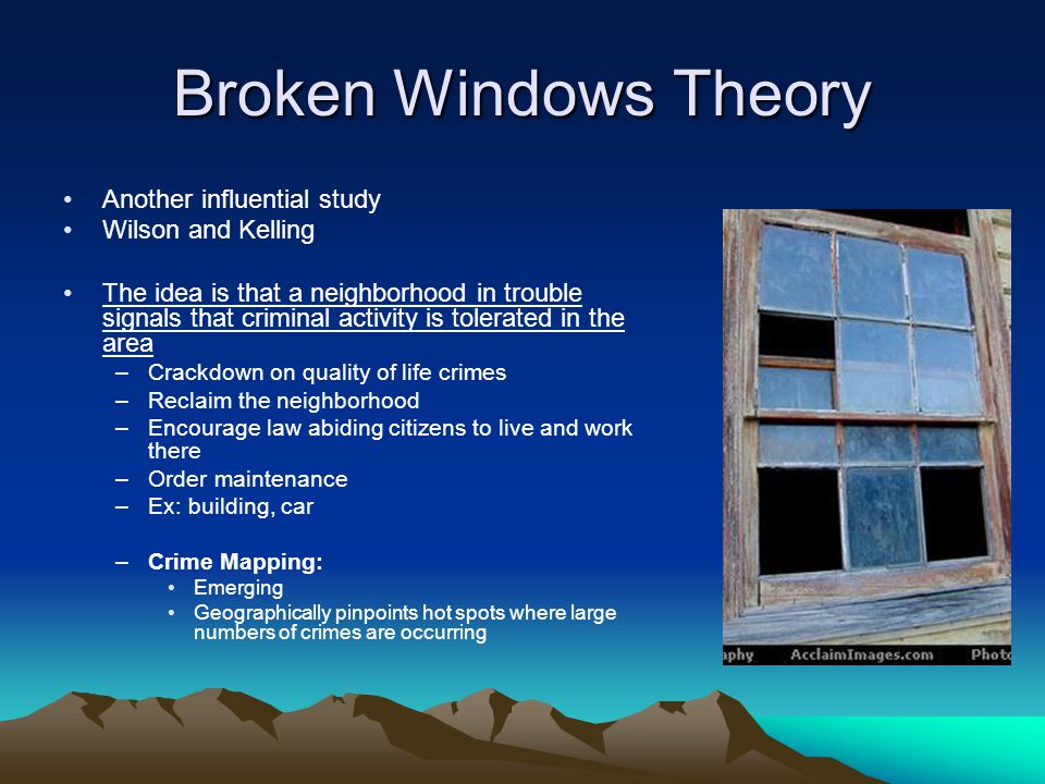 Broken Windows Theory: Definition & Example - Study.com