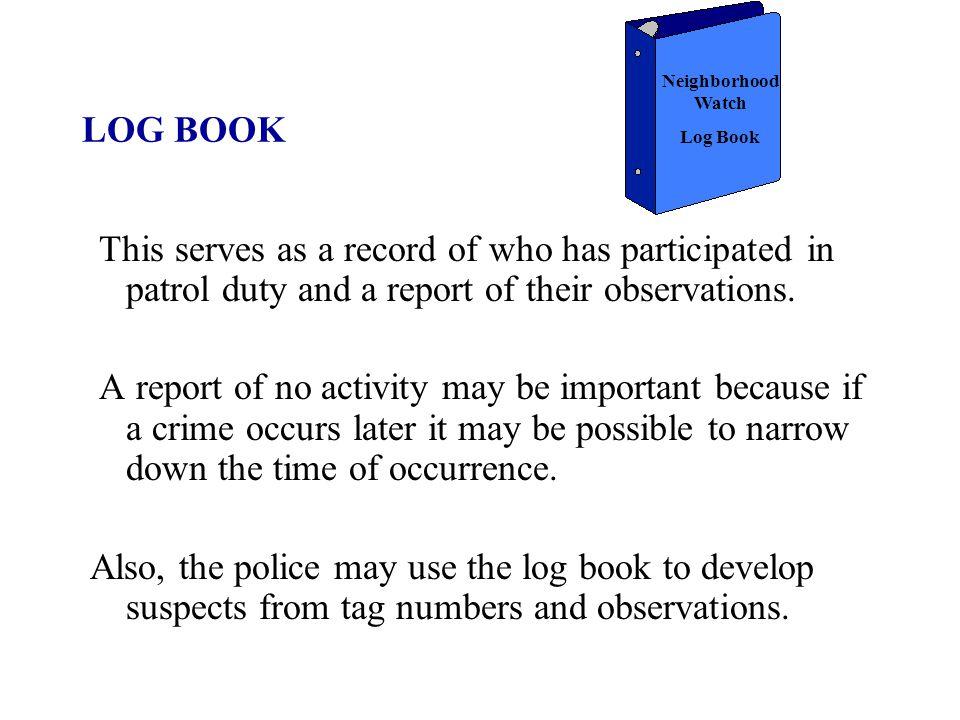 Crime Watch & Volunteer Crime Patrol – Neighborhood ...