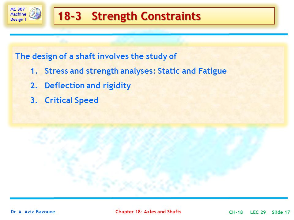 18-3 Strength Constraints