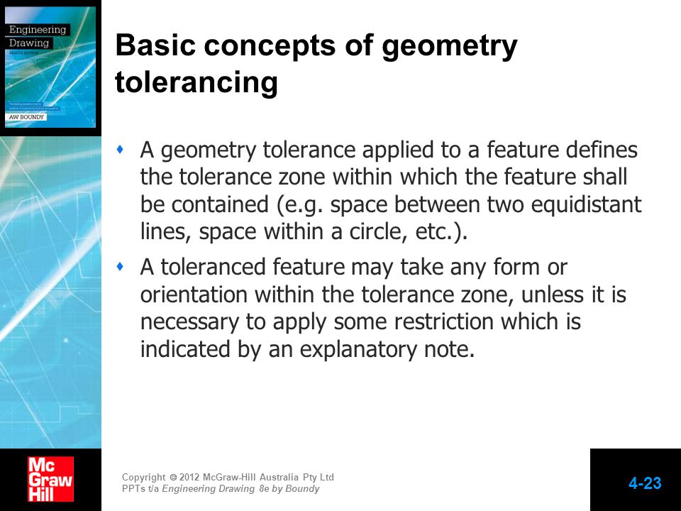 Basic concepts of geometry tolerancing