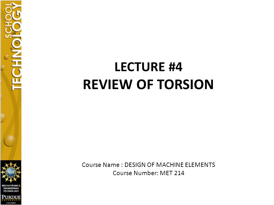 Course Name : DESIGN OF MACHINE ELEMENTS