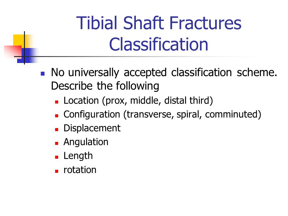 Fractures of the femur tibia and fibula ppt video - Tibial plafond fracture classification ...