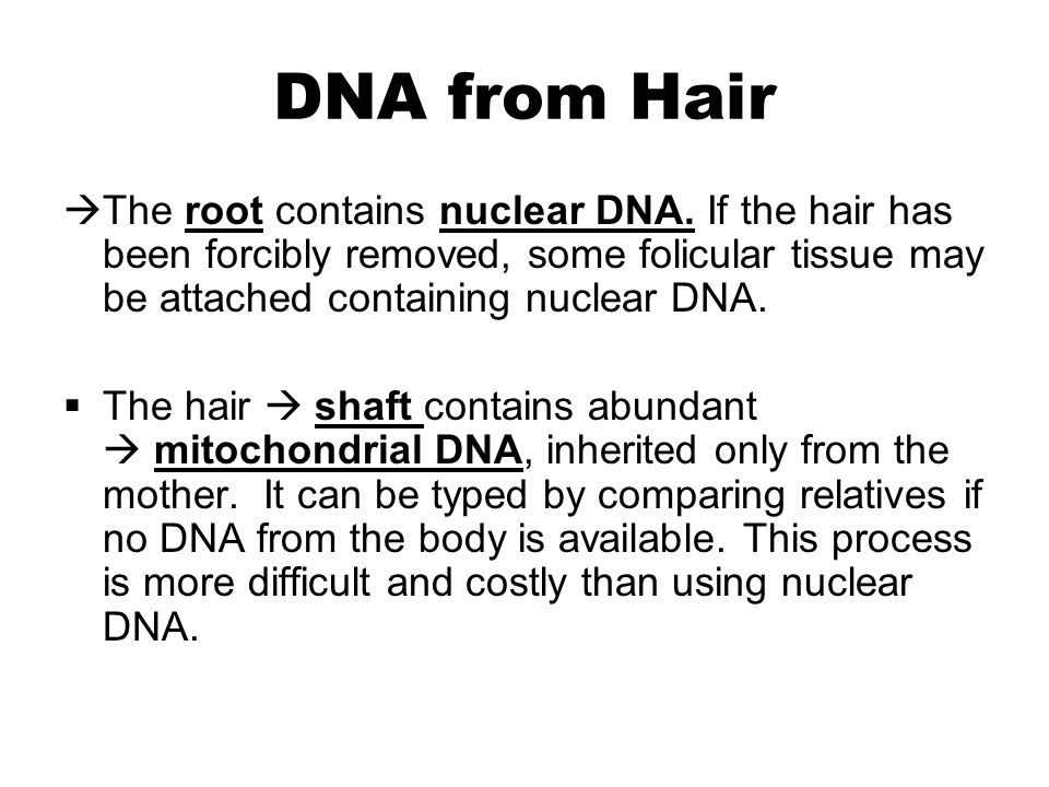 how to get dna from hair