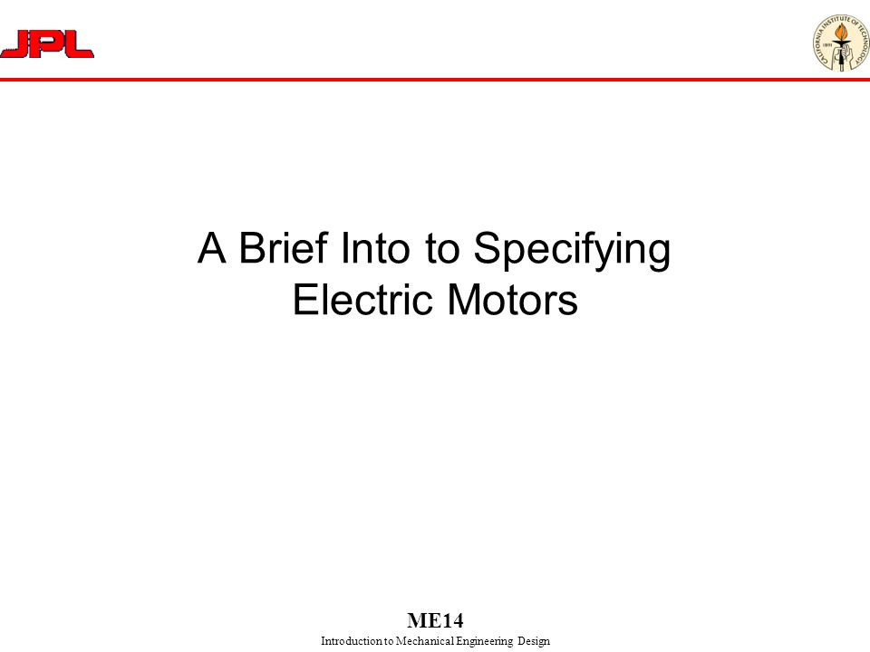 A Brief Into to Specifying Electric Motors