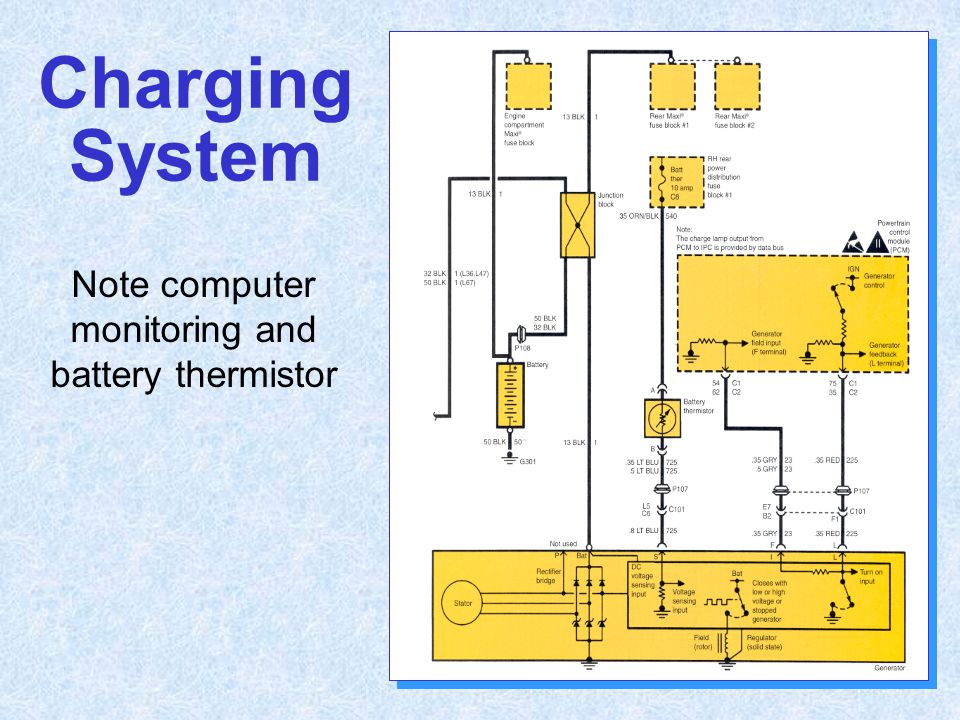 Note computer monitoring and battery thermistor