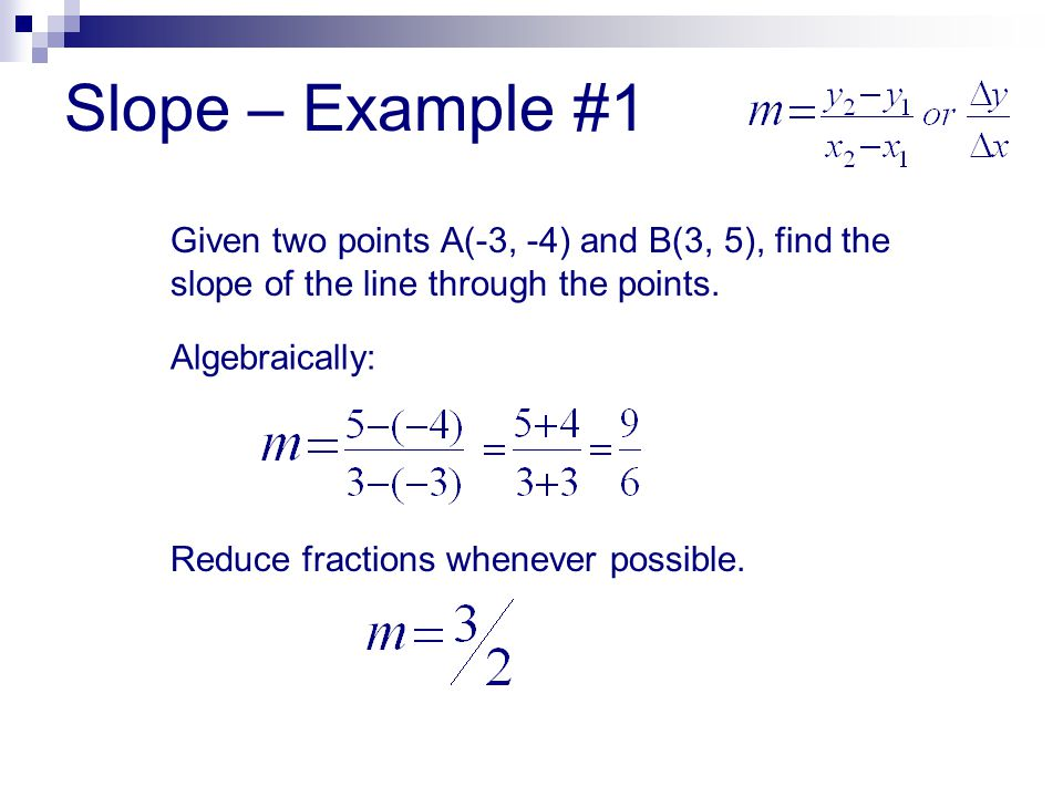 Slope parallel and perpendicular lines ppt download 3 slope example ccuart Images