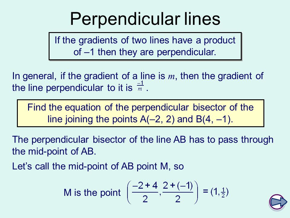 Perpendicular Bisector of a Line Segment Definition
