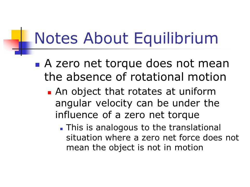 Notes About Equilibrium