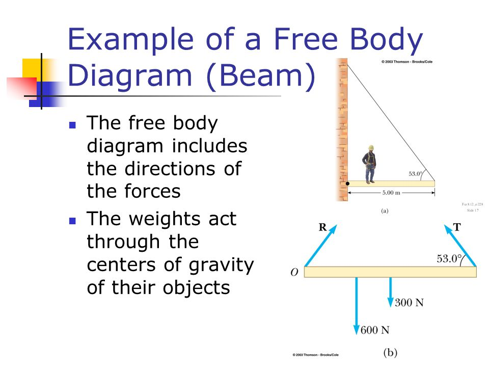 Example of a Free Body Diagram (Beam)