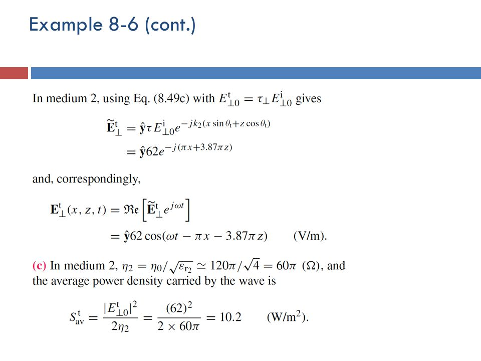 Example 8-6 (cont.)