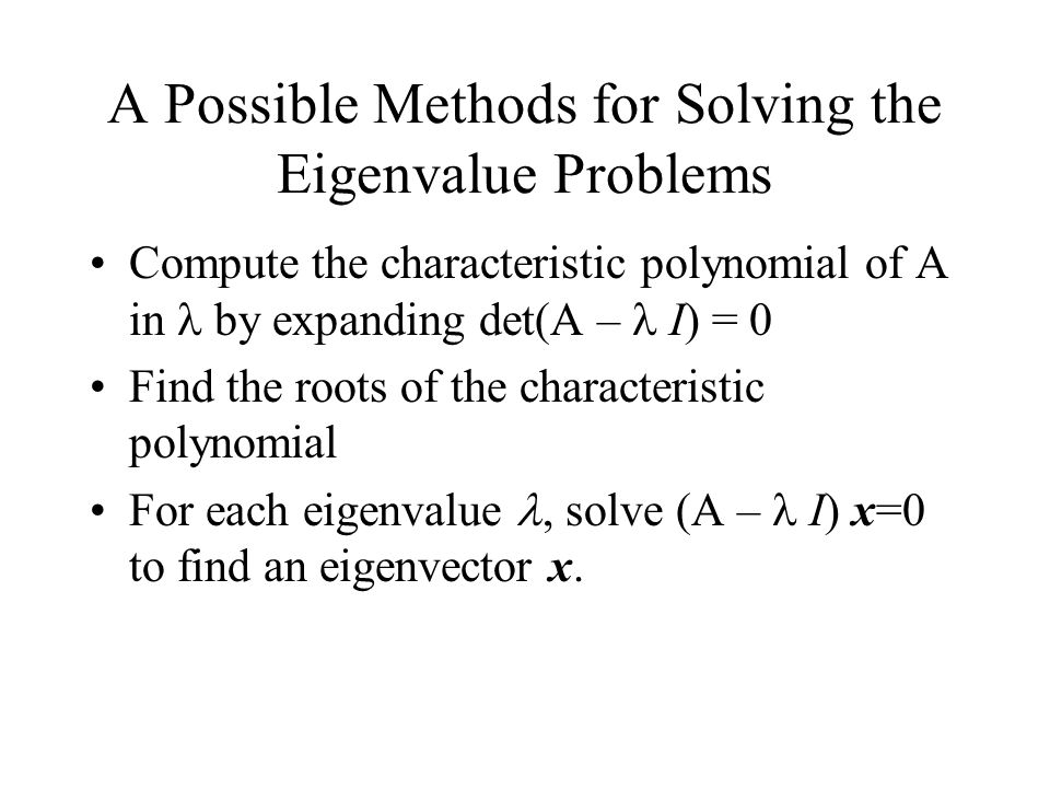 how to solve generalized eigenvalue problem