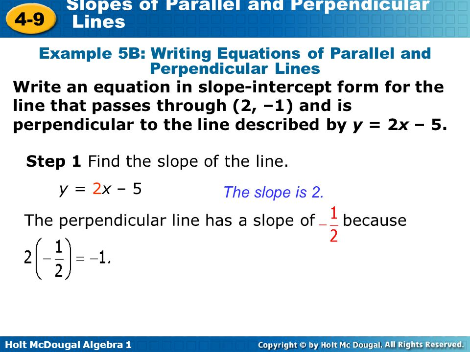 Write A-line In Slope Intercept Form
