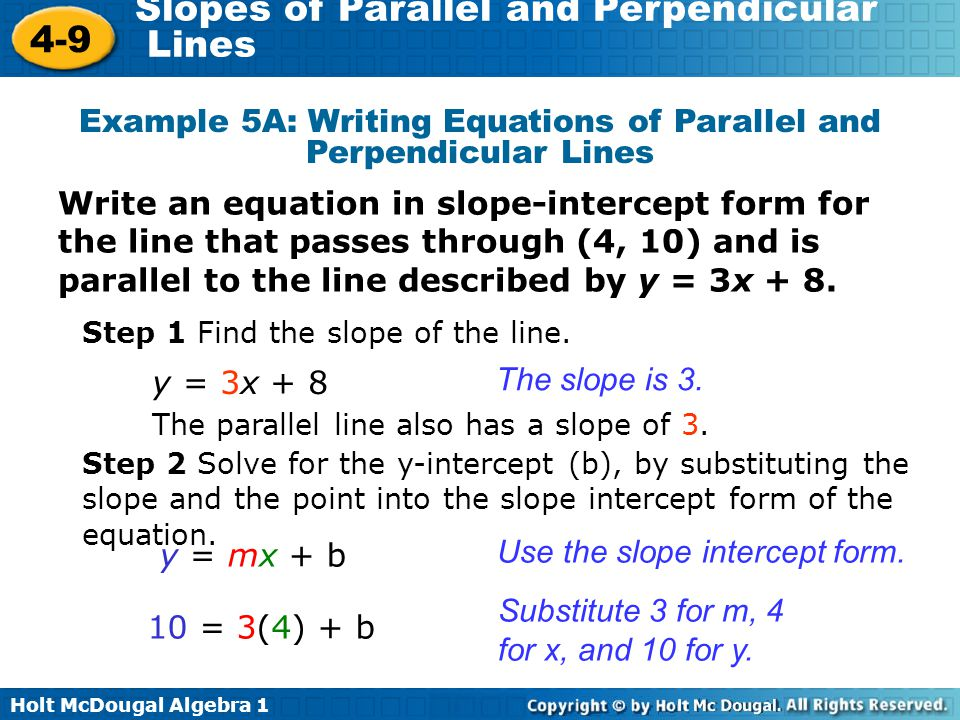 Warm Up Write an equation in slope-intercept form of the line ...