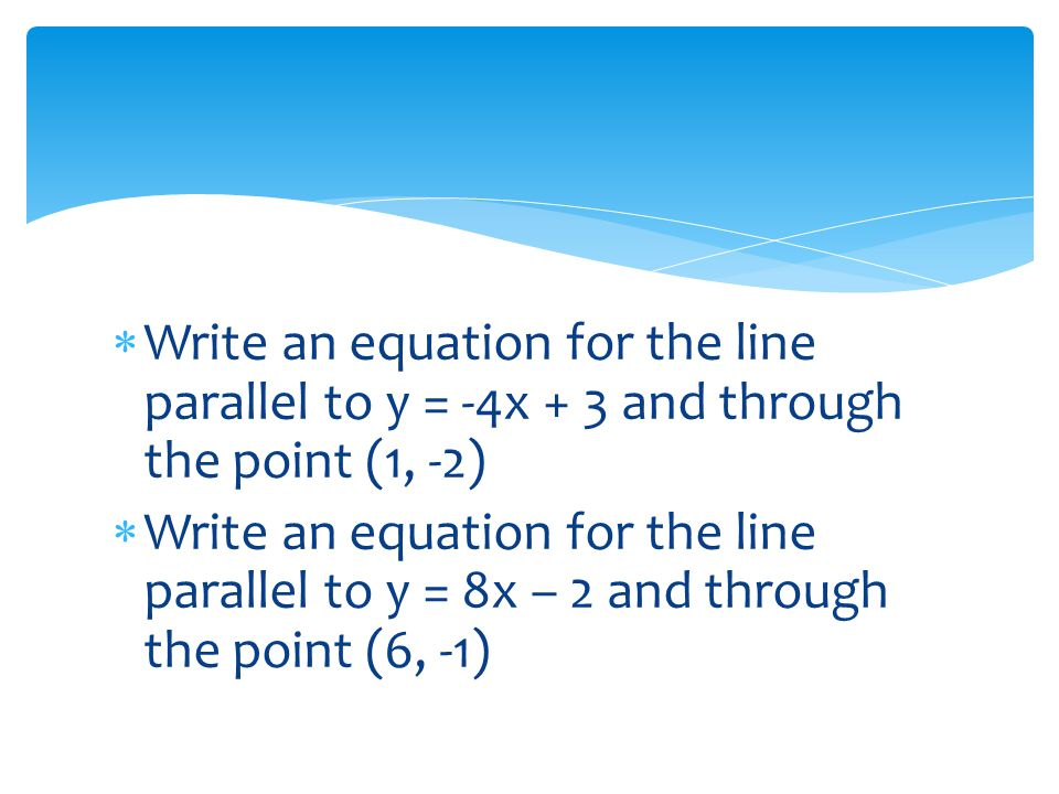 write the equation of the line