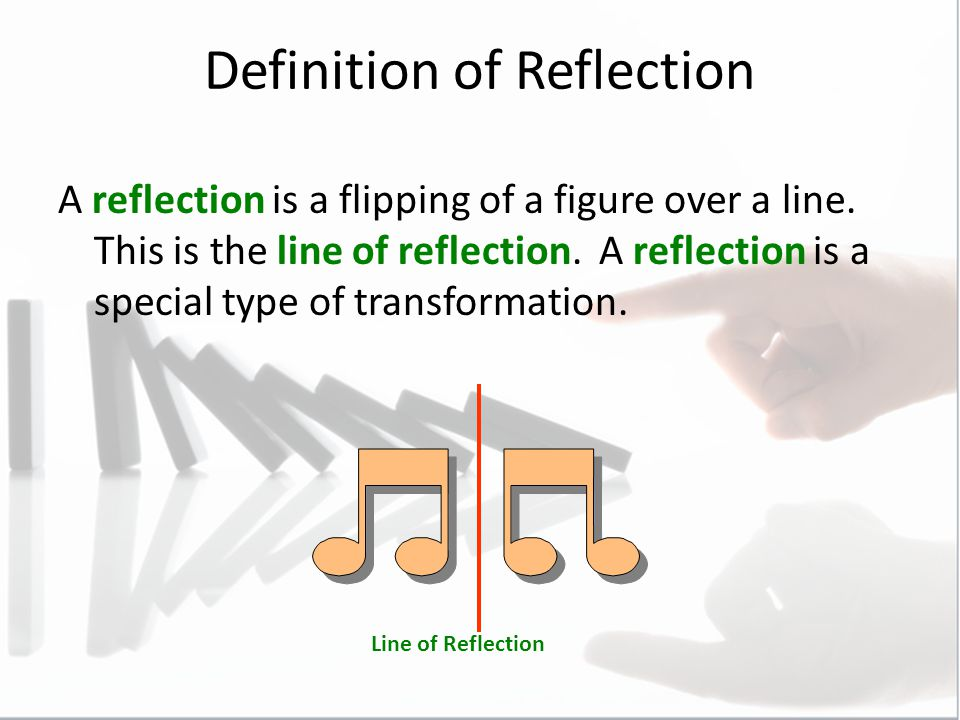 Drawing Lines Of Reflection : Reflections you identified draw