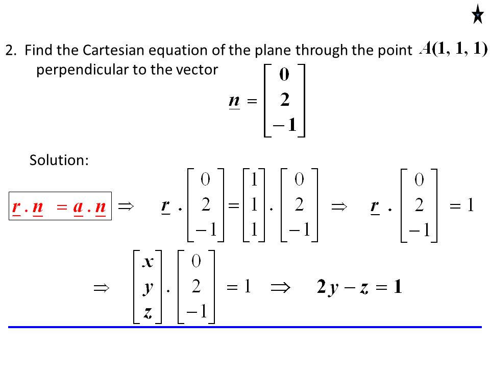Vector projection latex