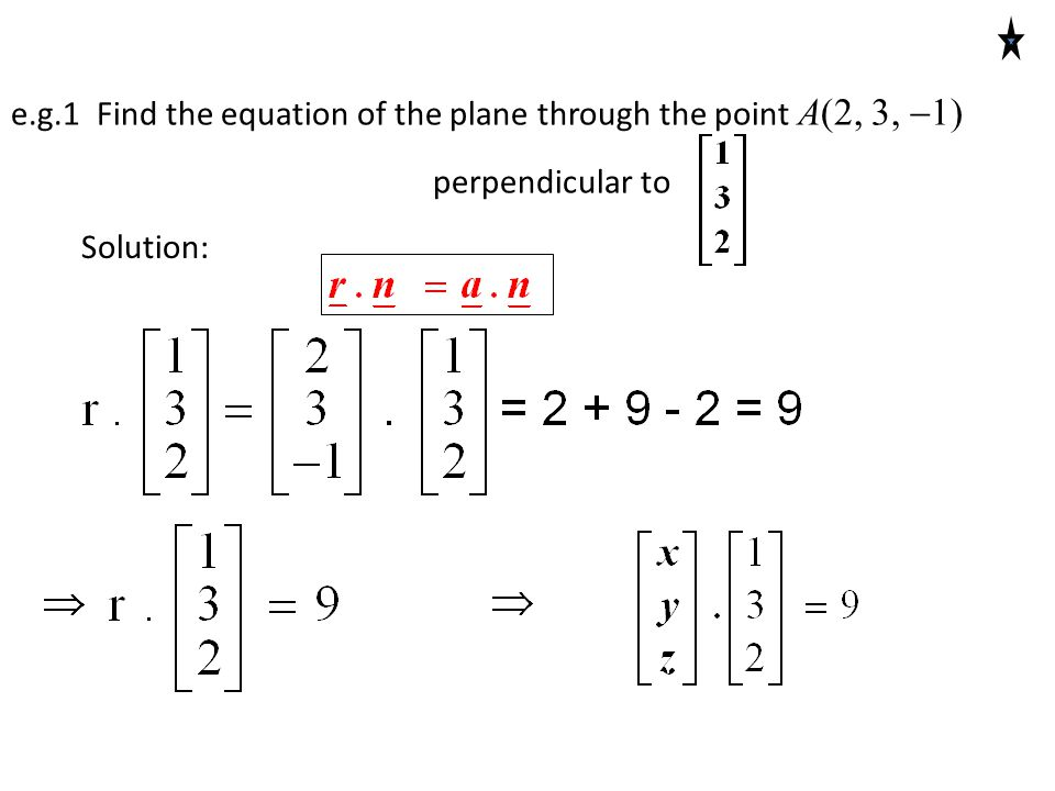 Three Point Plane : Find cartesian equation of a plane given points