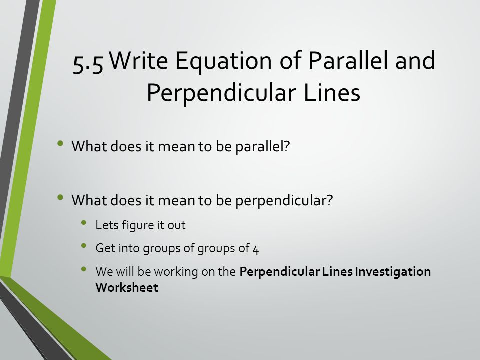 how to work out equation of perpendicular lines