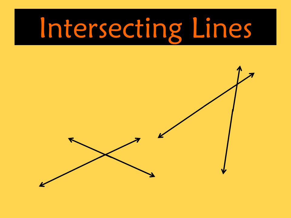What are the properties formed when two lines intersect each other ...
