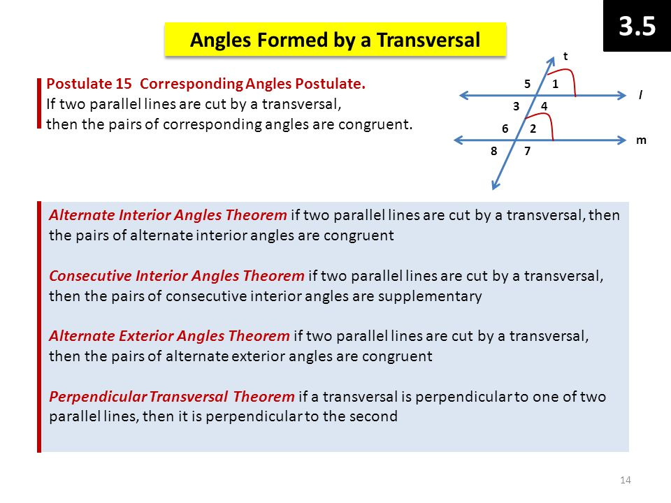 Geometry chapter 3 angle pairs lines and planes ppt video online download for Consecutive exterior angles theorem
