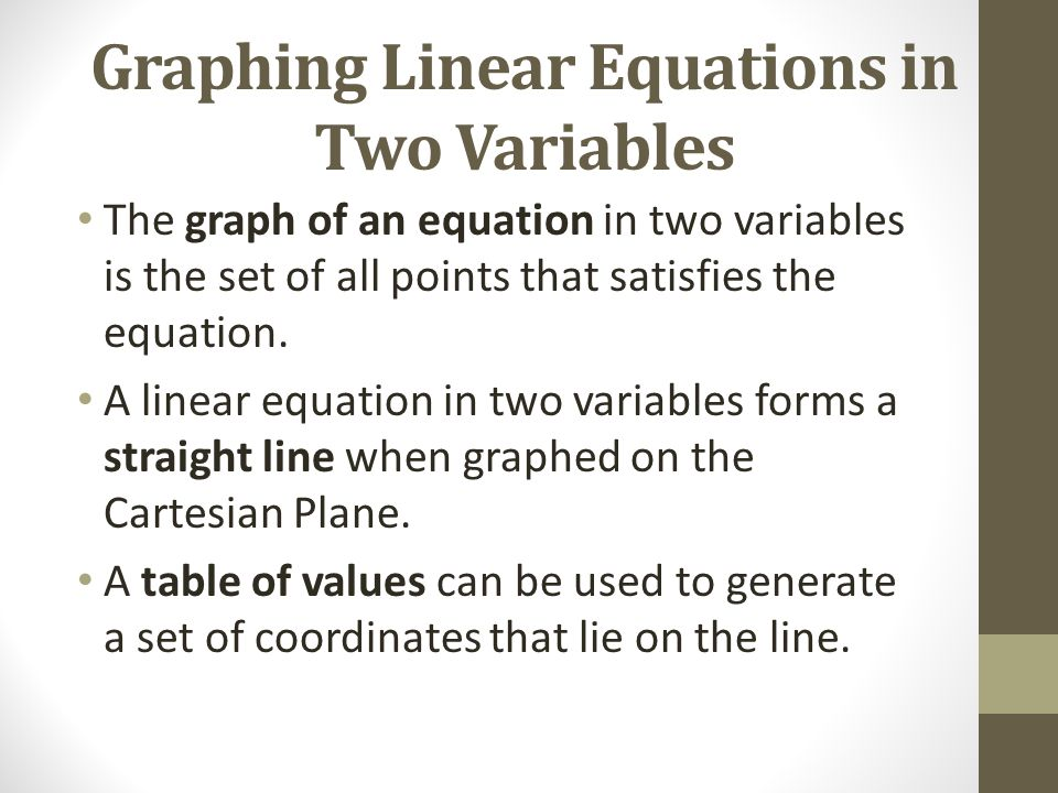 Cartesian Plane and Linear Equations in Two Variables ...