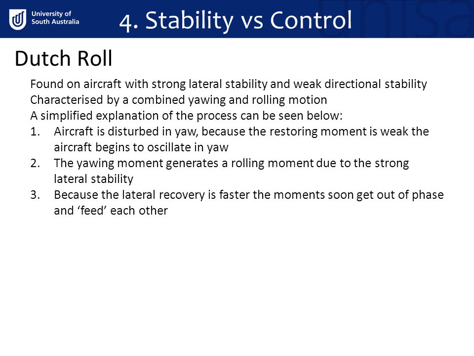 4. Stability vs Control Dutch Roll