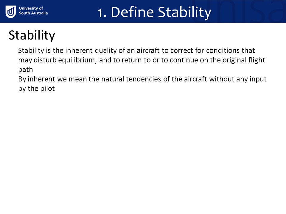 relationship between controllability and stability definition
