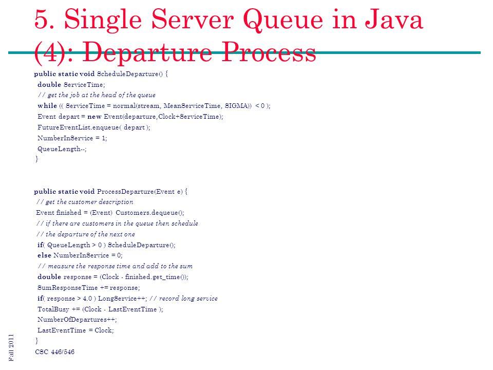 Single server queue simulation in java | Homework Example