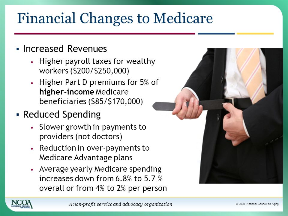 Financial Changes to Medicare