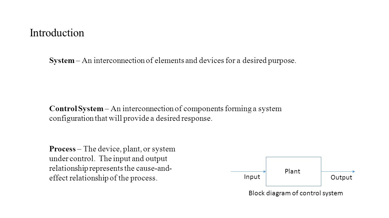 Control systems unit1 ppt video online download 2 introduction pooptronica Images