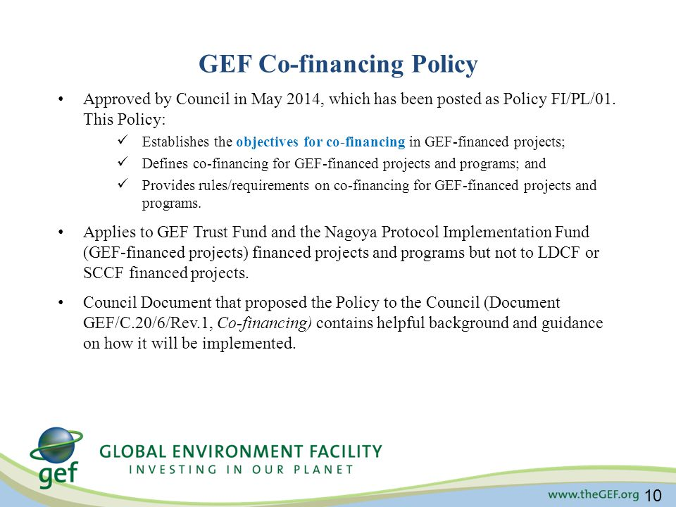 GEF Co-financing Policy
