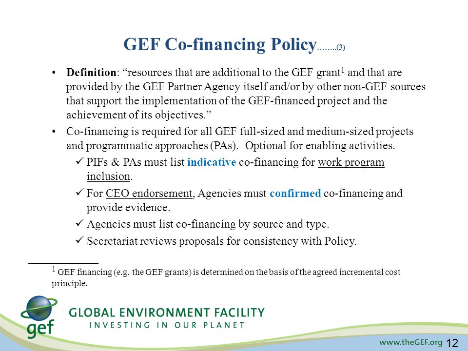 GEF Co-financing Policy……..(3)