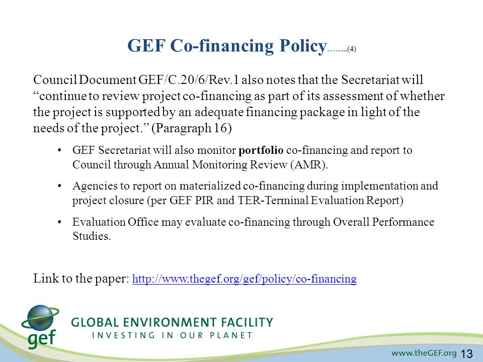 GEF Co-financing Policy……..(4)