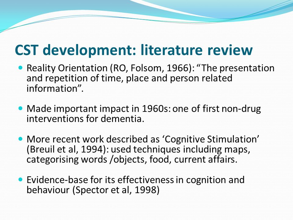 literature review on the effectiveness of group therapy Group counseling and therapy involves a group of about ten people meeting on weekly basis together with a trained counselor or therapist so as to discuss and open-up to the problems and struggles they may be facing there are group sessions which discuss a whole range of problems while other groups .